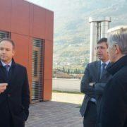 Giulio Pedrollo, vicepresidente di Confindustria, in visita all'hub tecnologico di Rovereto