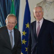 Brexit: Il Ministro Padoan ha incontrato Michel Barnier