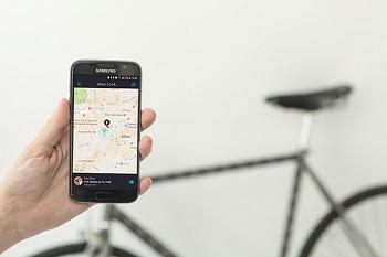 Antifurto per bici con sistema GPS integrato alla rete