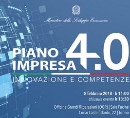 A Torino , Impresa 4.0  su innovazione e competenze