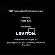 Leviton premia Fiore come miglior distributore 2017