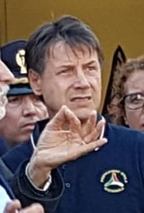 Il Presidente del Consiglio, Giuseppe Conte, a Genova