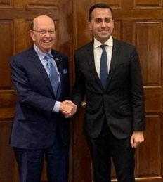 Il Ministro Di Maio a Washington incontra Wilbur Ross e le Big Tech