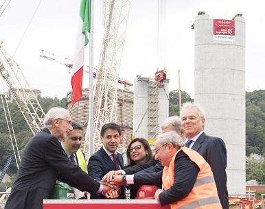 Genova: Varo del primo impalcato del nuovo viadotto sul Polcevera