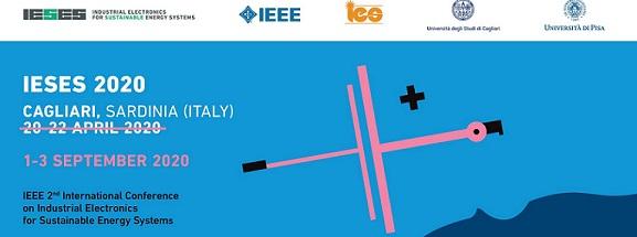 IESES 2020: elettronica industriale per la sostenibilità energetica (Cagliari, 1-3 settembre)